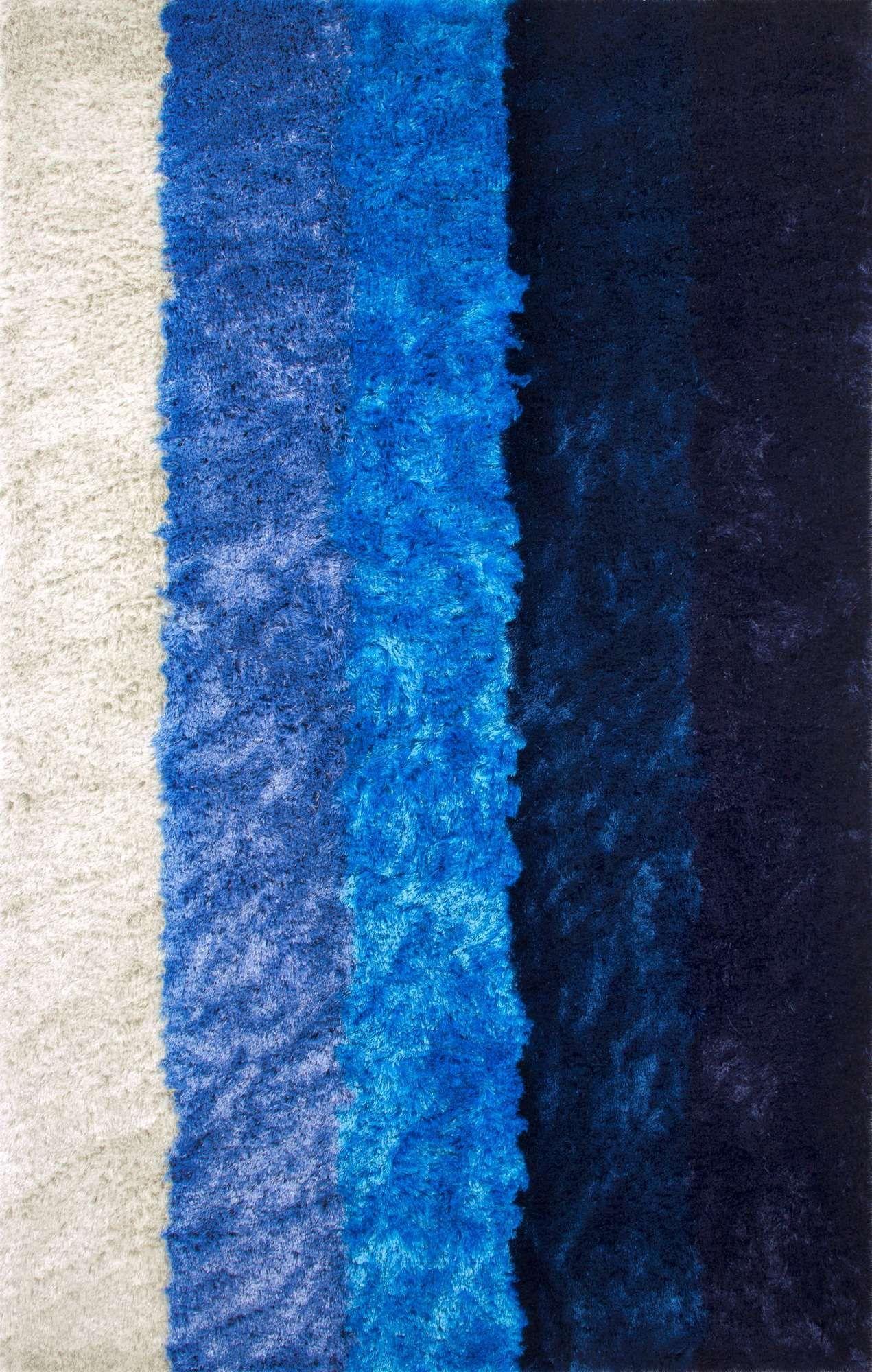 nuLOOM Shags Thomas Paul Hand Tufted Stripes Shag Rectangle Area Rug