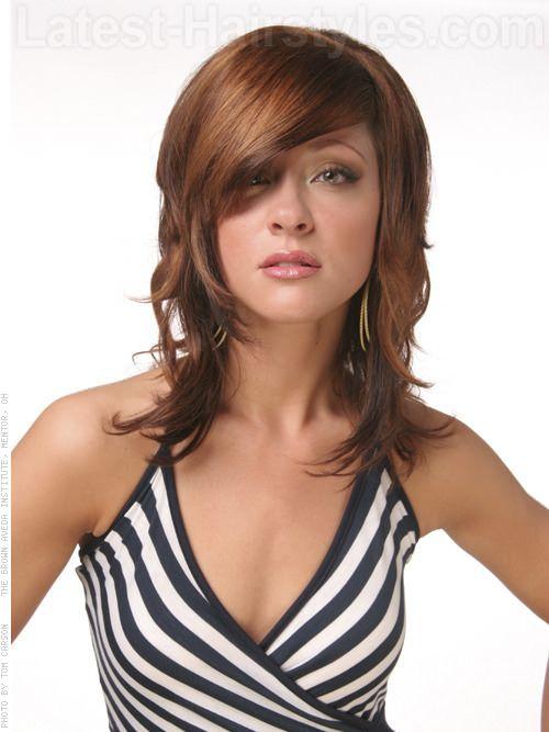 Hairstyles For Medium Length Hair Bangs : 21 beautifully layered hairstyles for medium length hair latest