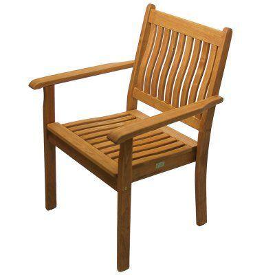 Outdoor Haste Garden Riviera Stacking Arm Chair No Cushion - 415.571