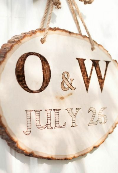 Show off your love with a DIY wooden plaque for the bride and groom!