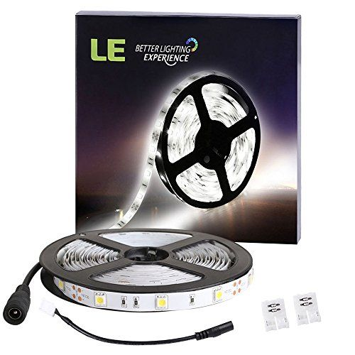 Le 12v Flexible Led Strip Lights 6000k Daylight White 150 Units Smd 5050 Leds 110 Lumensft 22 W Led Tape Lighting Flexible Led Light Led Light Strips