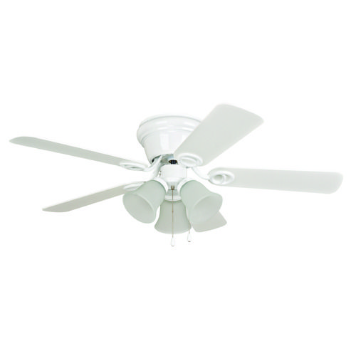 Craftmade lighting wyman white ceiling fan with light at destination lighting