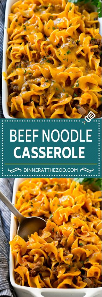Beef Noodle Casserole - Dinner at the Zoo