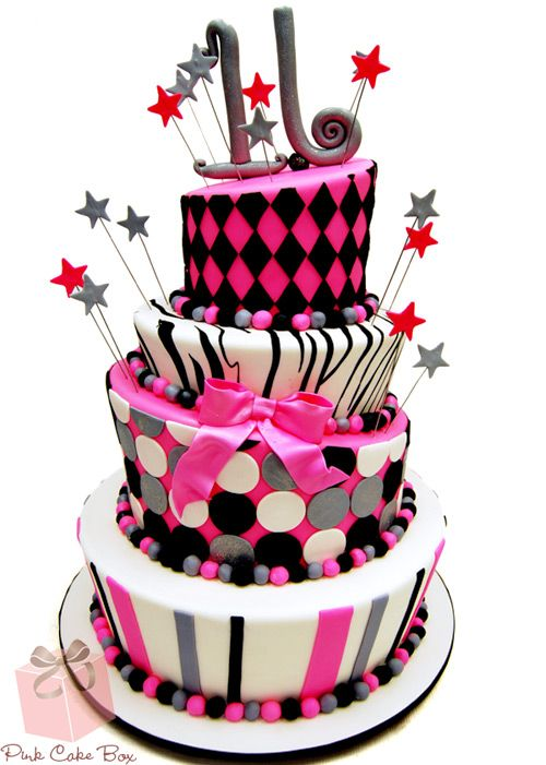 Topsy Sweet 16 Cake Sweet 16 Cakes Sweet 16 Dance cakes and