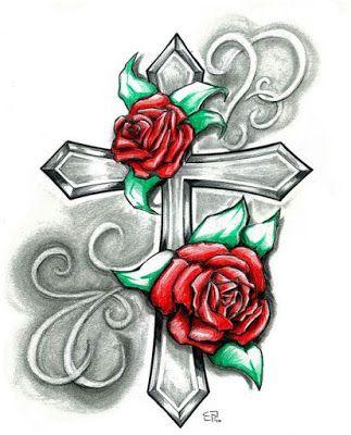 Plantillas Para Tatuar Cruces Tatuajes De Rosas Pinturas Musicales Dibujos Sombreados A Lapiz
