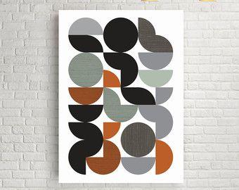 Art prints wall art prints abstract print home art by FLATOWL