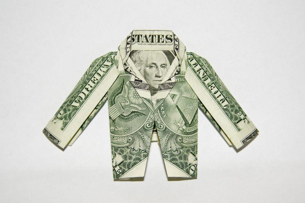origamis et pliages avec des dollars etiquettes. Black Bedroom Furniture Sets. Home Design Ideas
