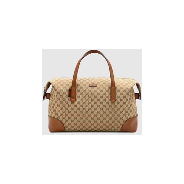 9cfa4c8932da Gucci Original Gg Canvas Carry-On Duffle Bag ($920) ❤ liked on Polyvore  featuring bags, luggage, duffel bags and women's luggage & travel