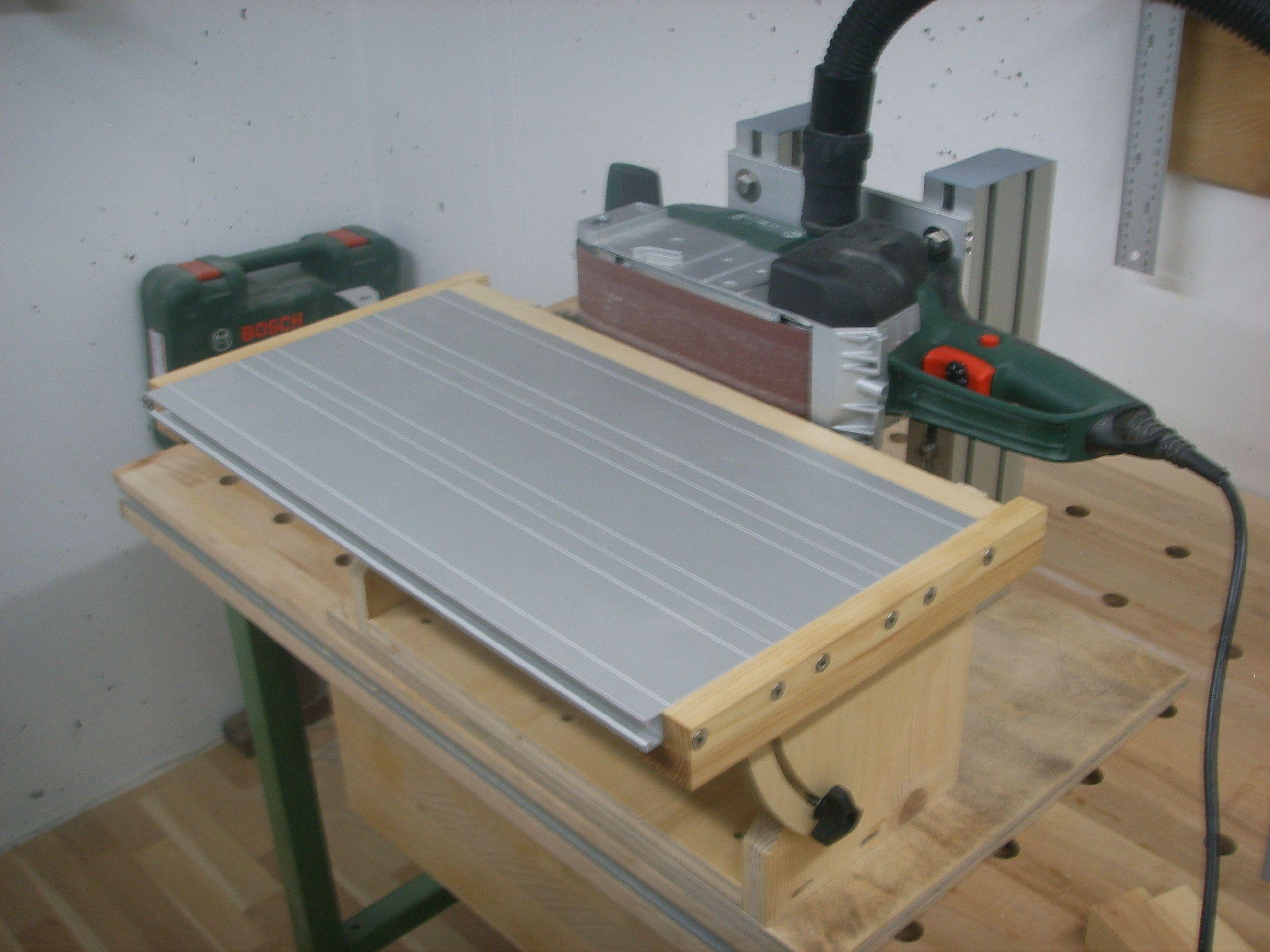 Werkstatteinrichtung selber bauen  Bandschleifer Stationäreinrichtung Bauanleitung zum selber bauen ...