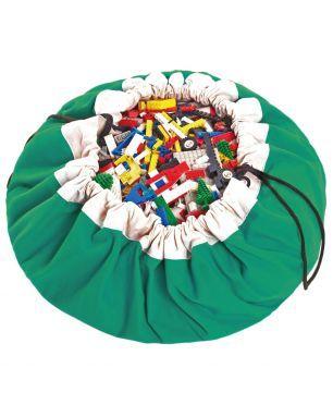 green toy storage bag  opbergzak speelmat speelgoed
