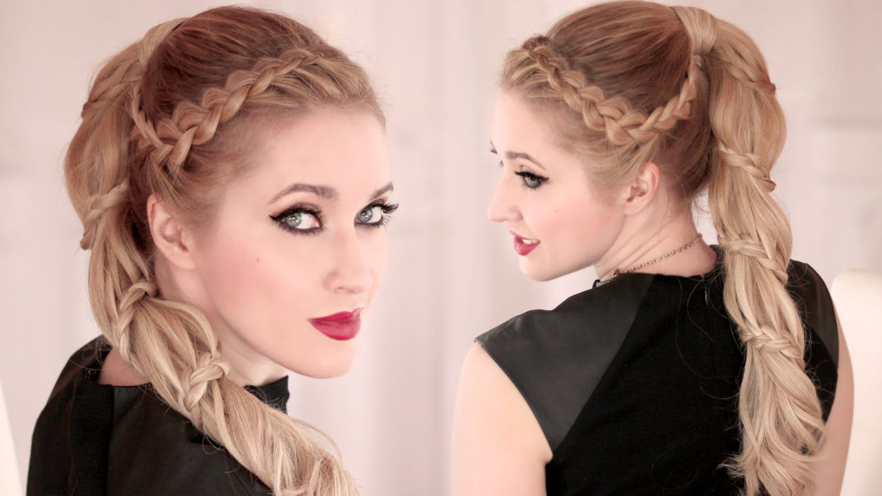 Spiral Braid ★ High Ponytail Hairstyle For Long Hair