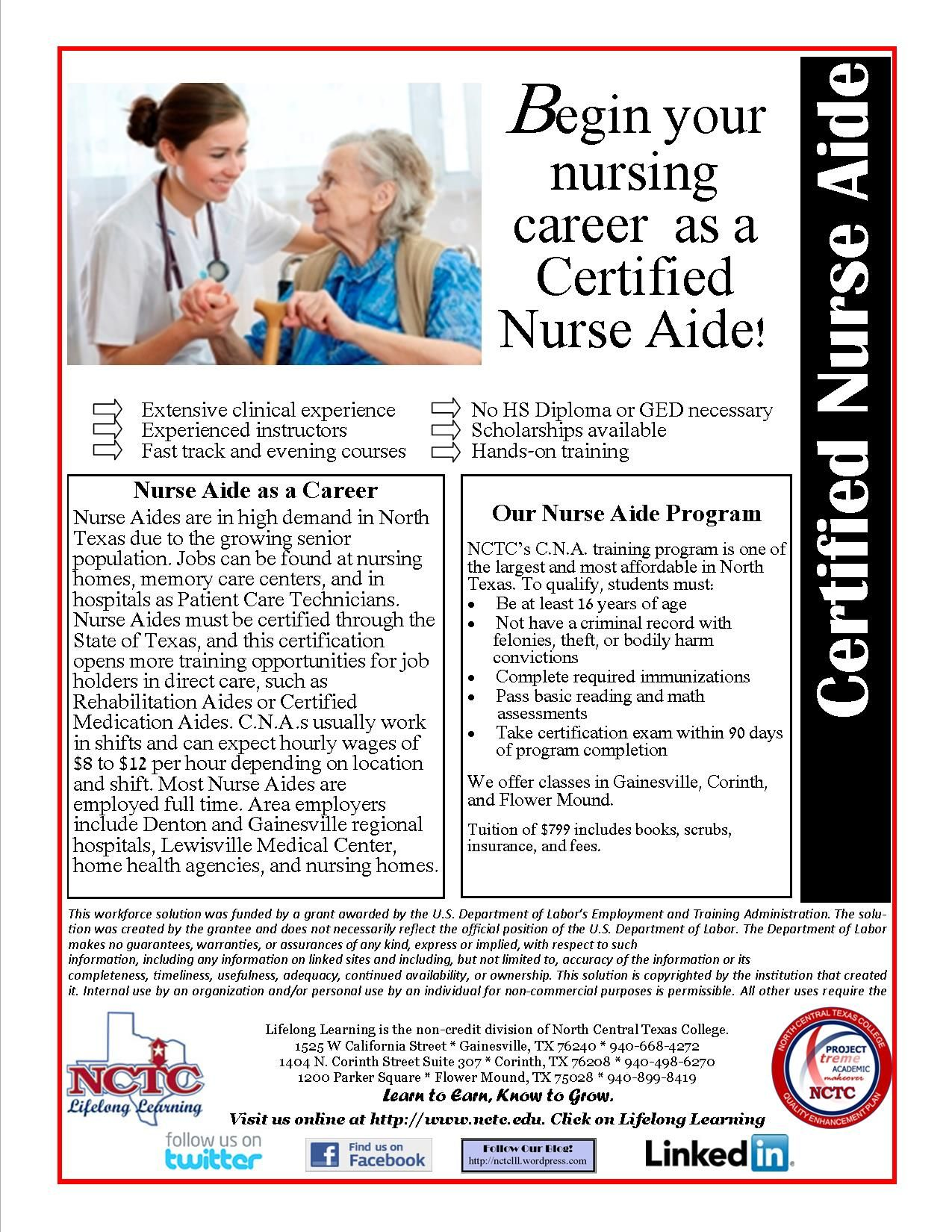 Pin By Nctc Ace Adult Continuing Education On Cna Certified Nurse