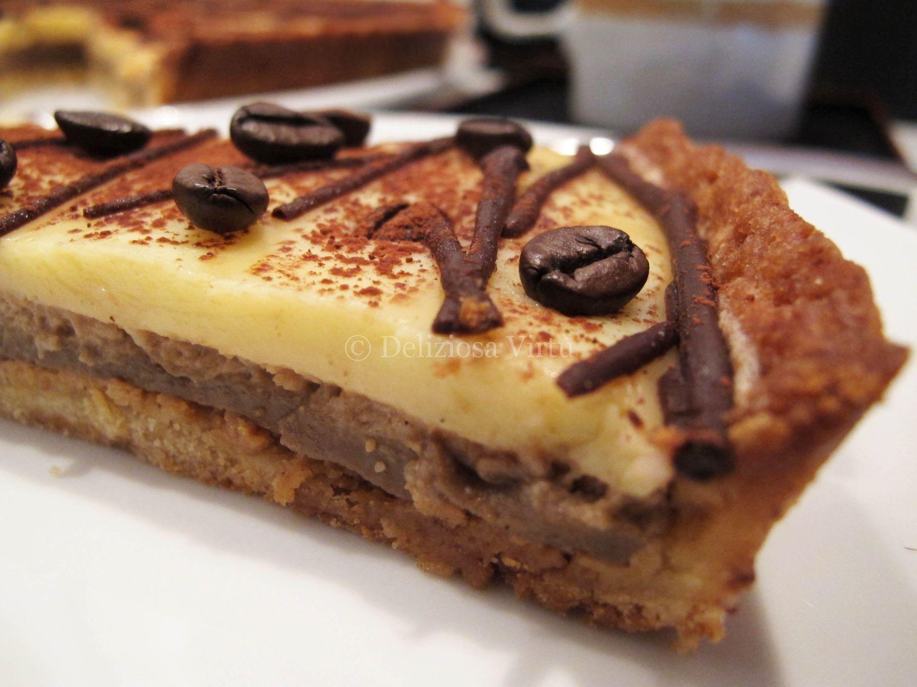 Crostata al caffè e cioccolato bianco 4