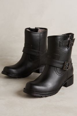 Jeffrey Campbell Clima Rain Boots Black Boots #anthrofave