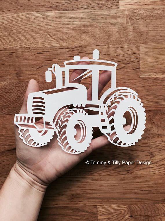 Tractor SVG PDF DXF Png Jpg Design - Papercutting Template - Kids ...