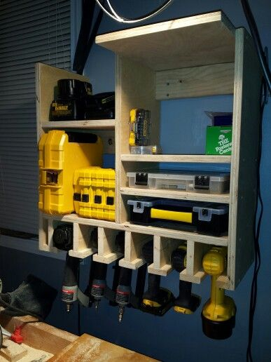 Tool Storage and Recharge Station by Eric  Projects by