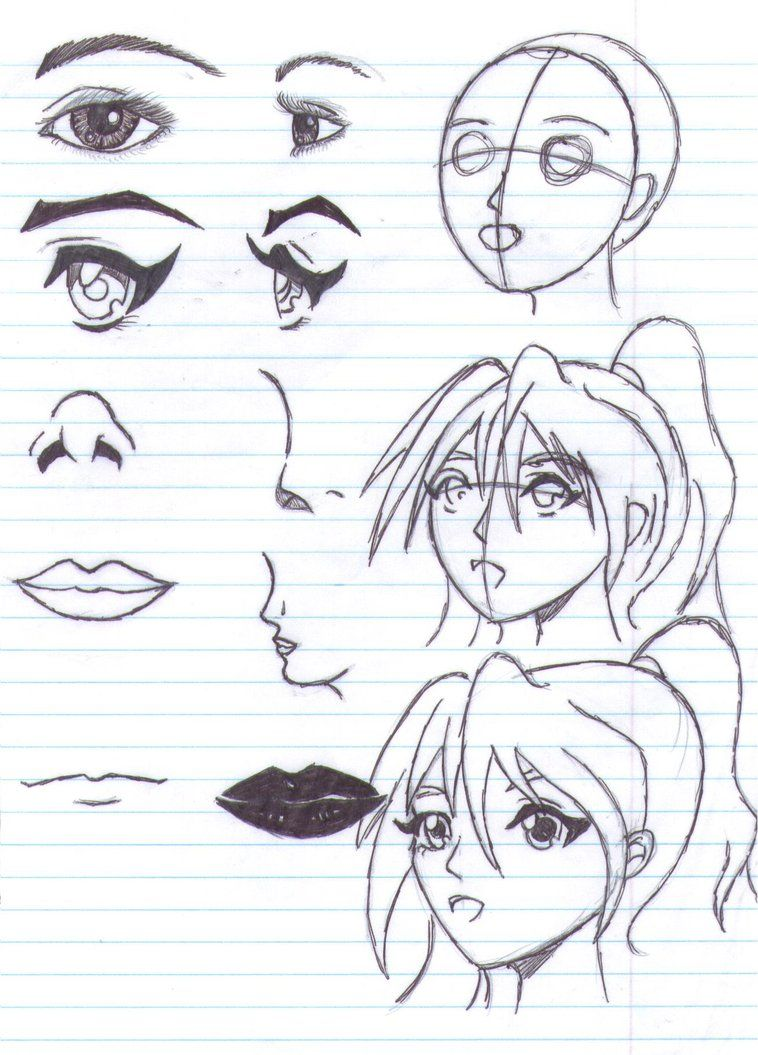 How to draw anime page by razorsharp on deviantart how to