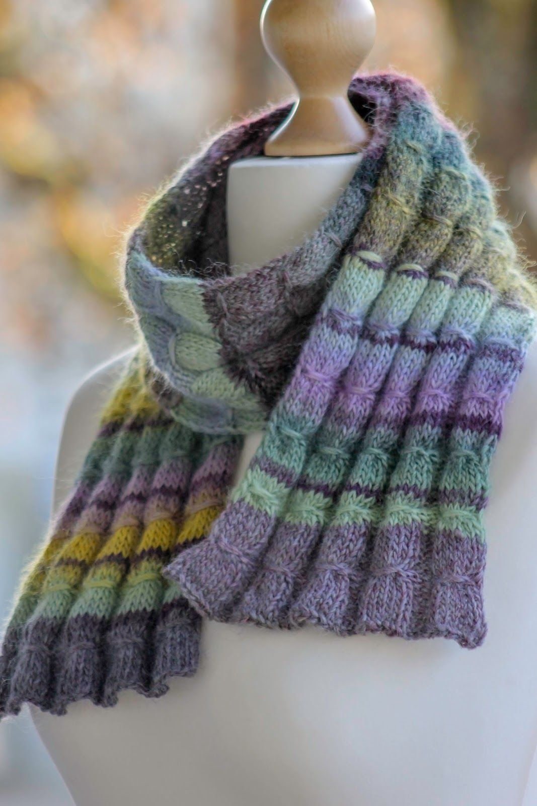 Gathered Rib Scarf (With images) | Ribbed scarf, Knitting ...