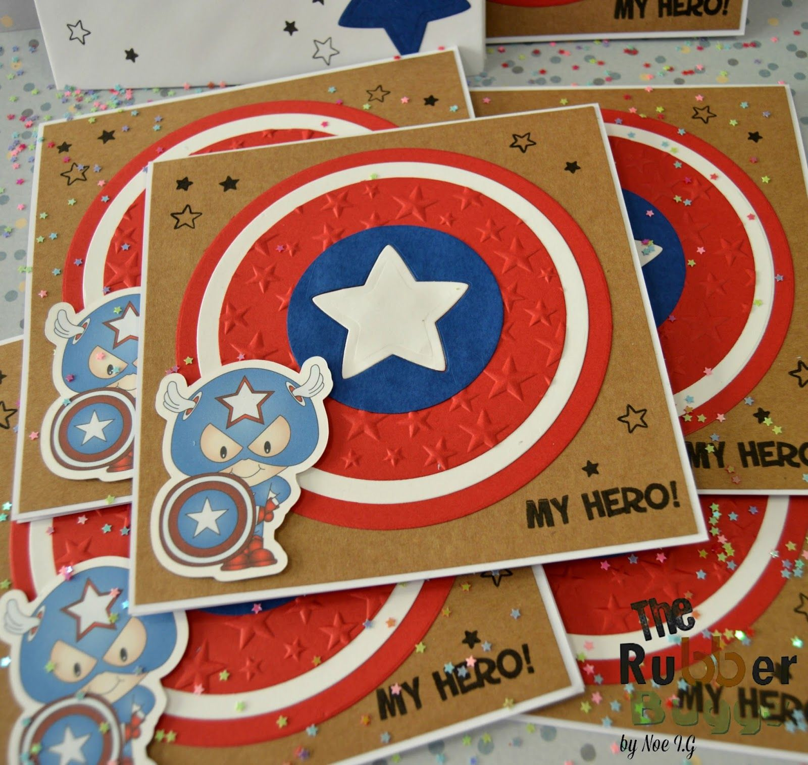 The Rubber Buggy: Captain America Birthday Party Invitation | Cards ...