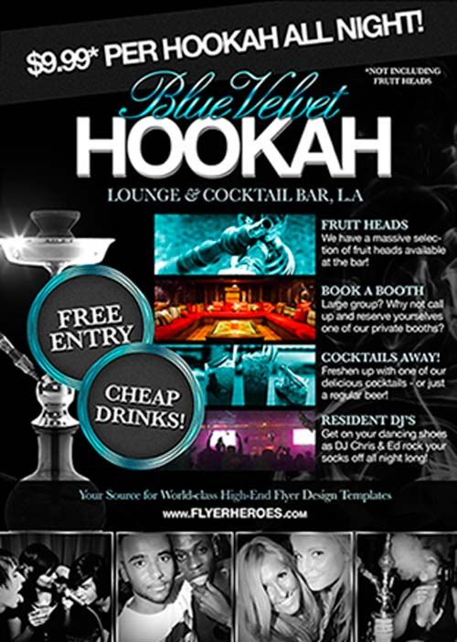 Free Hookah Lounge Flyer PSD Template freepsdflyer – Lounge Flyer Template