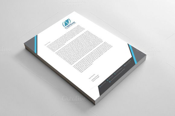 A Creative And Modern Corporate Business Letterhead Design Its Clean Neatly Organized Components Make It Suitable For Any Kind Of