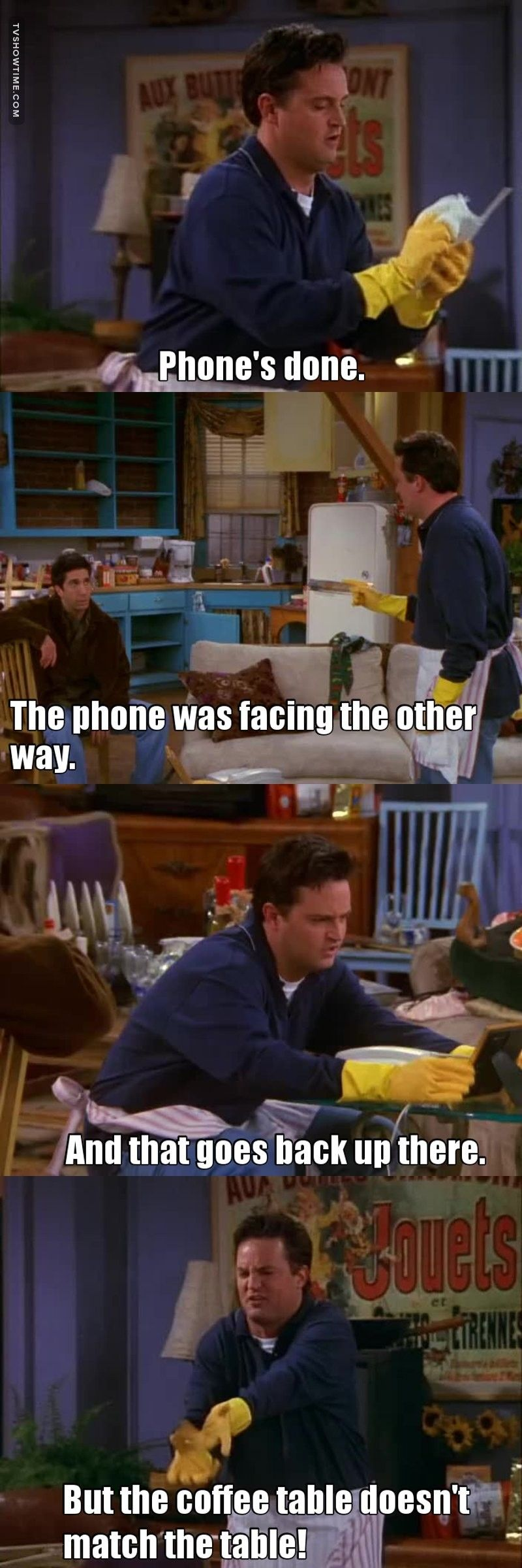 When Chandler Tried To Clean Monica S Apartment