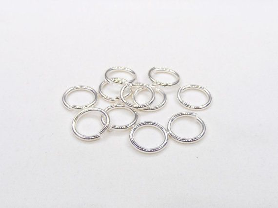 Silver Plated Over Brass High Quality Big Jump Rings Silver Etsy Shiny Rings Silver Jump Rings