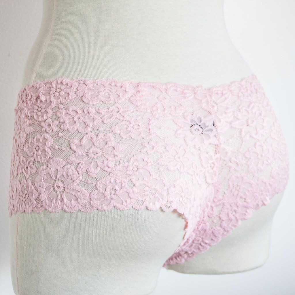 5f94ab6709c Floral Lace Cheeky Panty - Pink