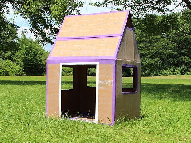 Como Hacer Una Casita Para Niños Impermeable Todo Manualidades Diy Fort Cardboard Box Fort Cardboard Forts
