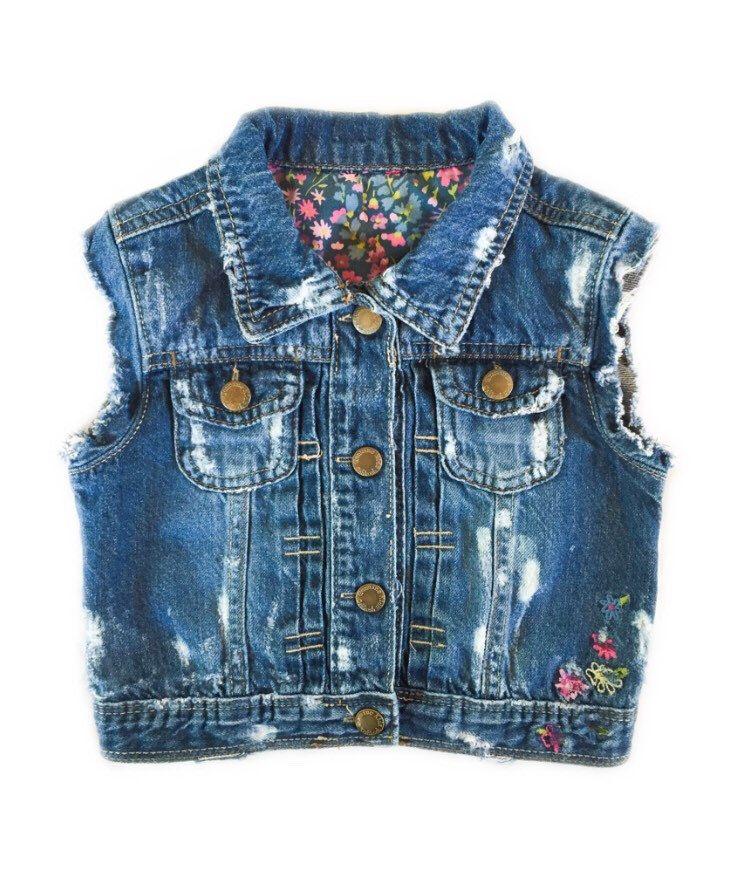 Size 3T. Toddler girl vest. Toddler denim vest. Toddler vest. Girl denim vest. Toddler girl clothes. Toddler denim vest. by RebelRooster on Etsy https://www.etsy.com/listing/236910822/size-3t-toddler-girl-vest-toddler-denim