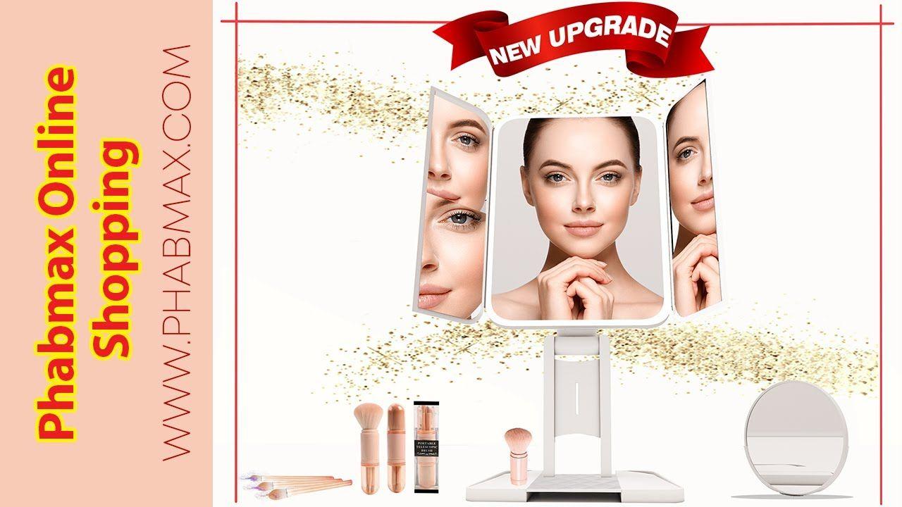 PHABMAX makeup mirror vanity mirror with lights 3 color