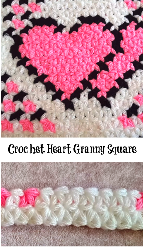 Heart Granny Square | Crochet! | Pinterest | Ganchillo, Tejido ...