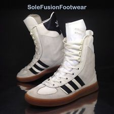 adidas Vintage Mens adiMed STABIL High Trainers White sz 6.5 Sneaker Boots  7 40 086d432cd