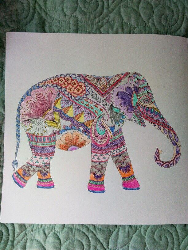 PencilsKM Elephant Millie Marotta Animal Kingdom Coloring Book