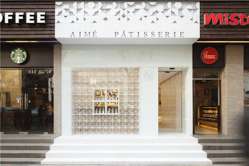 Aime store facade exterior design pinterest for Retail store exterior design