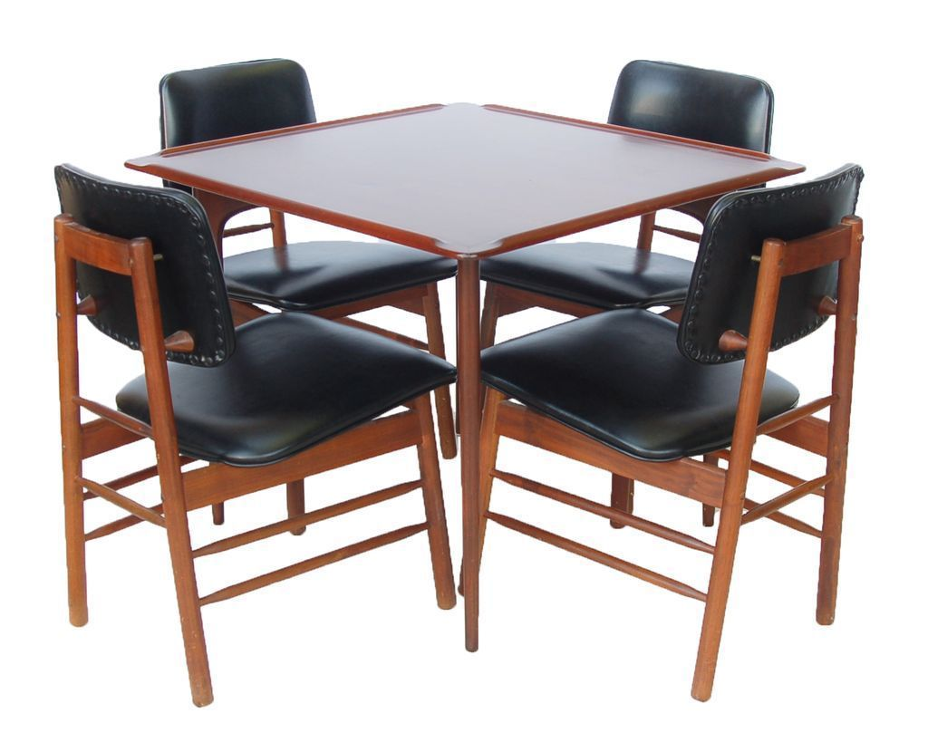 Greta Grossman Furniture Century Modern Card Table W Greta