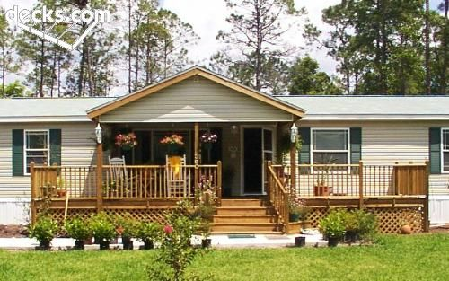 Front porches deck picture gallery house stuff Decks and porches for mobile homes