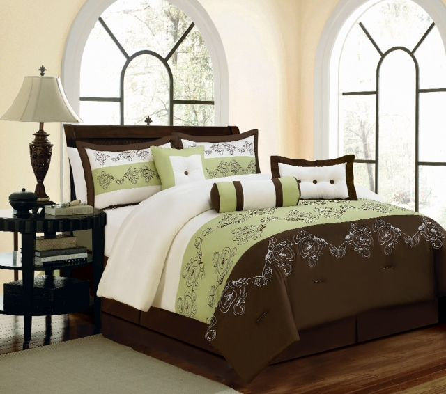comforter set co icmultimedia brown green sage sets and