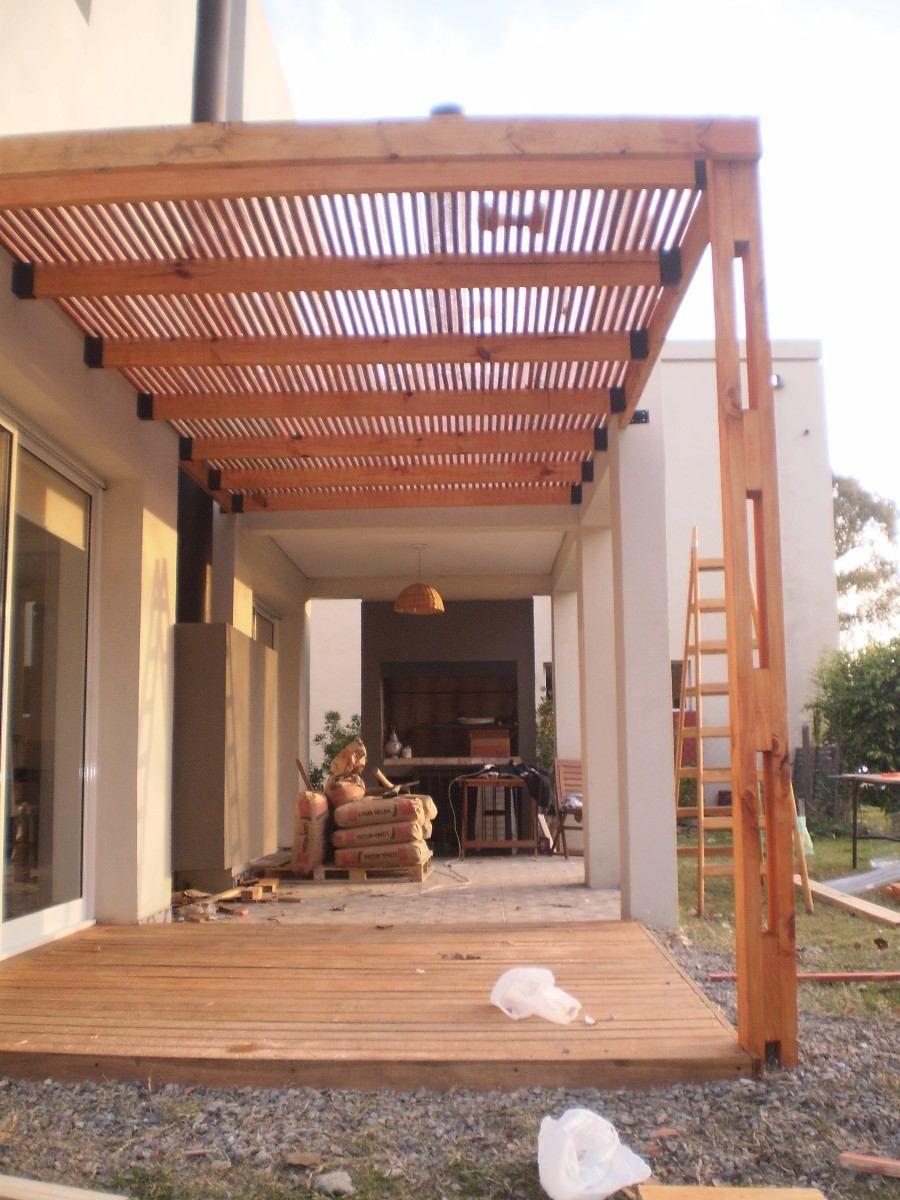 Construccion de pergolas de madera modernas buscar con for Cobertizos para jardin