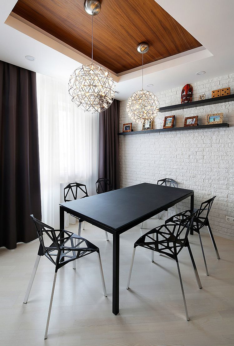 50 Bold And Inventive Dining Rooms With Brick Walls Dining Room Contemporary Dining Room Wall Decor Dining Room Small