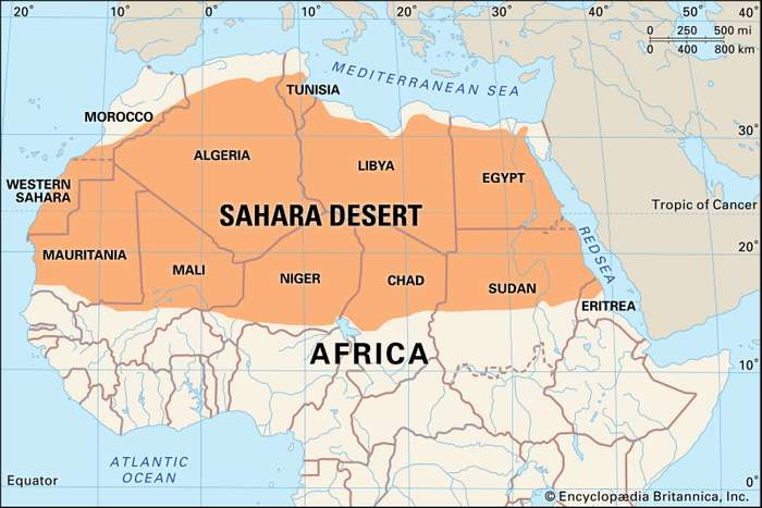 Africa Map Countries 2021 Sahara | Location, History, Map, Countries, Animals, & Facts in