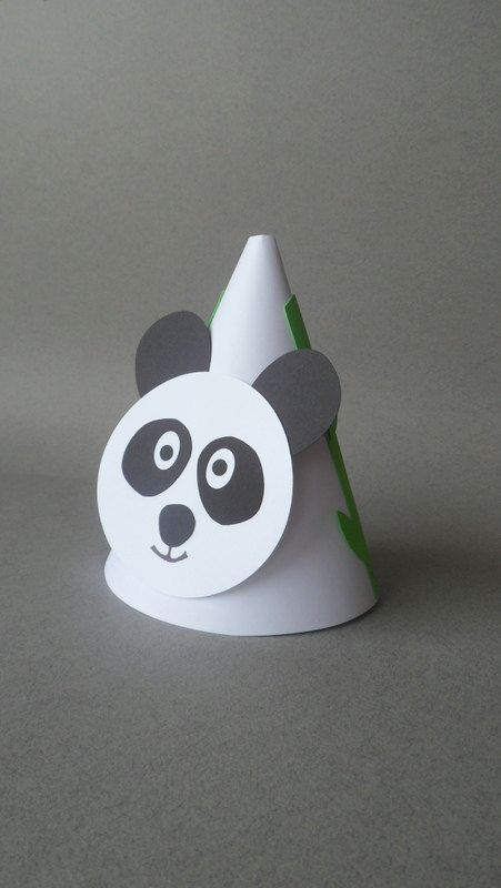 Panda Theme Party Hats by PAPALOTES on Etsy, $21.99 | PA