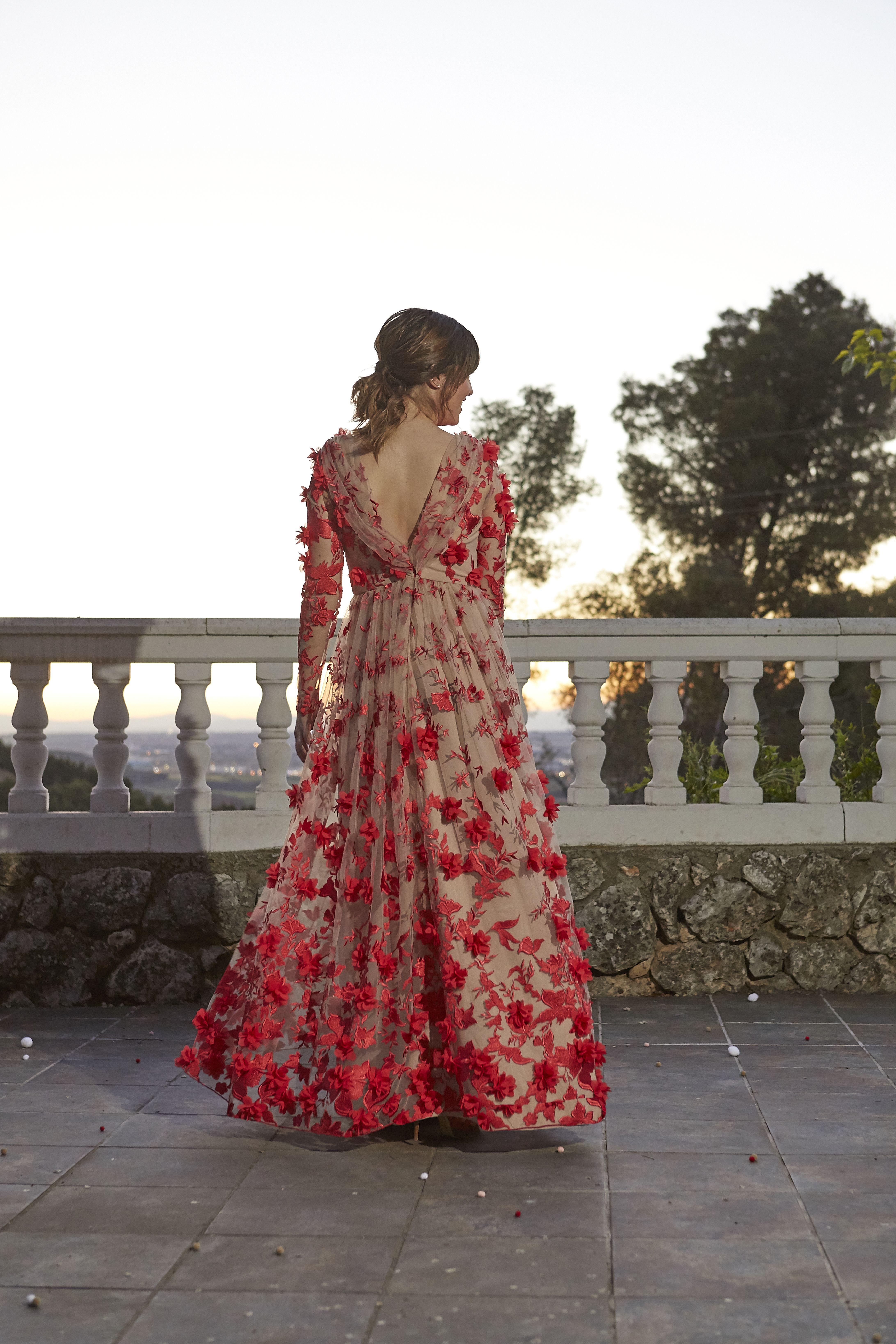 Vestido De Invitada Boda De Tarde 2020 Vestidos Con Tul Bordado Vestidos De Novia Vestido Tul