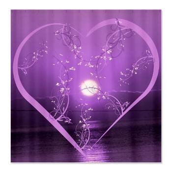Purple Flower Shower Curtain Macy\'s | floral #heart purple #Shower ...