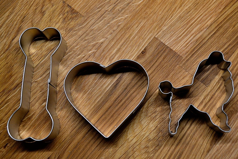 I Heart Poodles Cookie Cutter Set