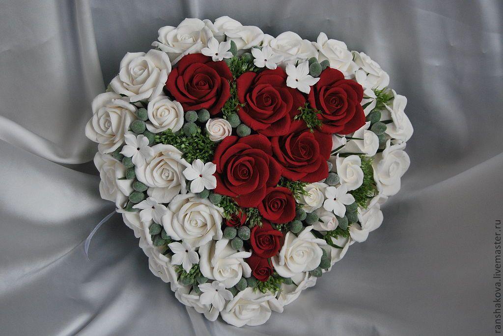 Букеты невесты в форме сердца