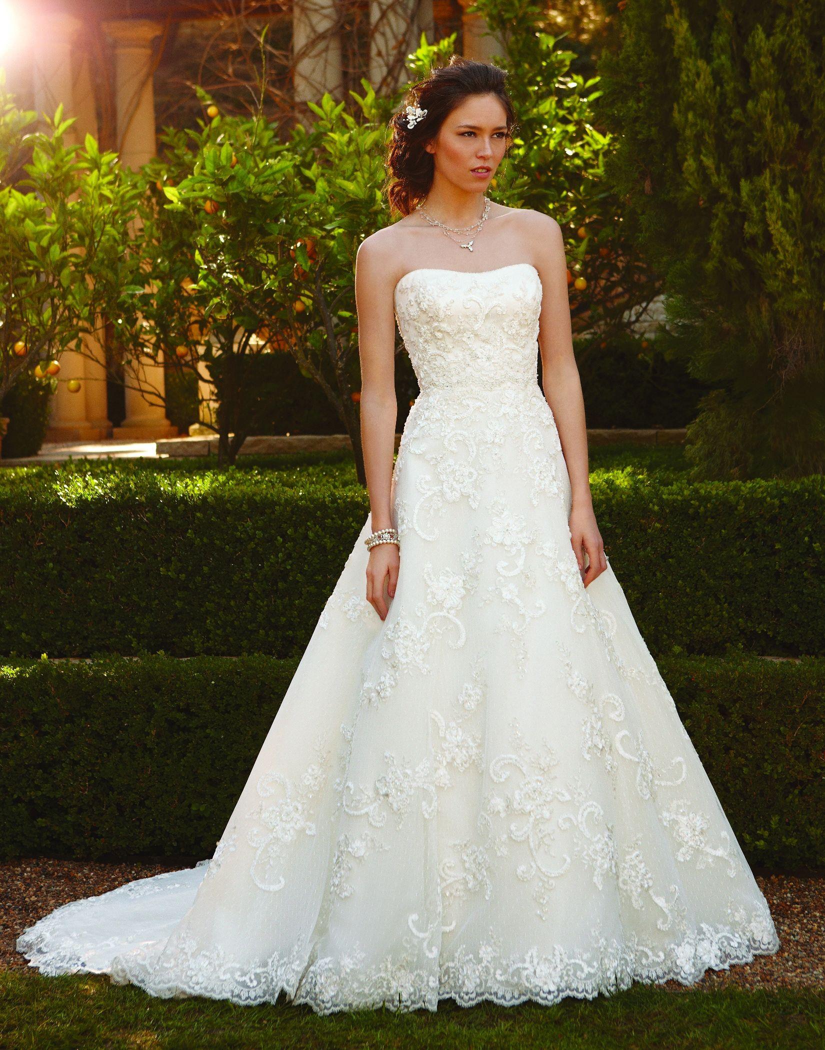 Casablanca bridal wedding dress style beaded lace sewn