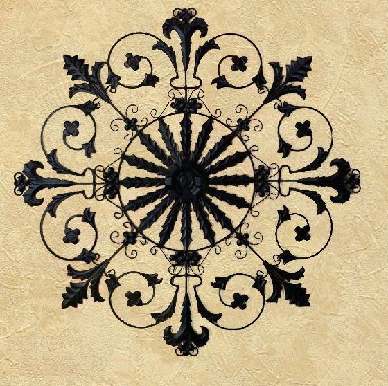 Adriana Round Iron Wall Hanging - treasurecombers | Wall Grilles ...