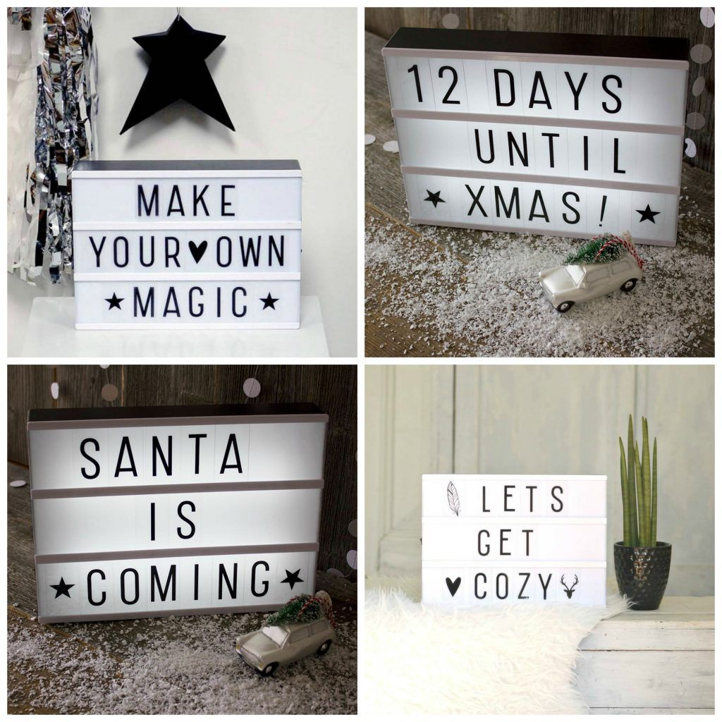 Create Your Own Message Cinema Style Lightbox Light
