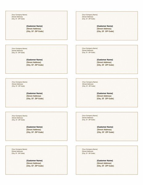 Avery 5163 Labels Template Awesome Shipping Labels Sienna Design 10 Per Page Works With Label Templates Avery Shipping Labels Avery Labels